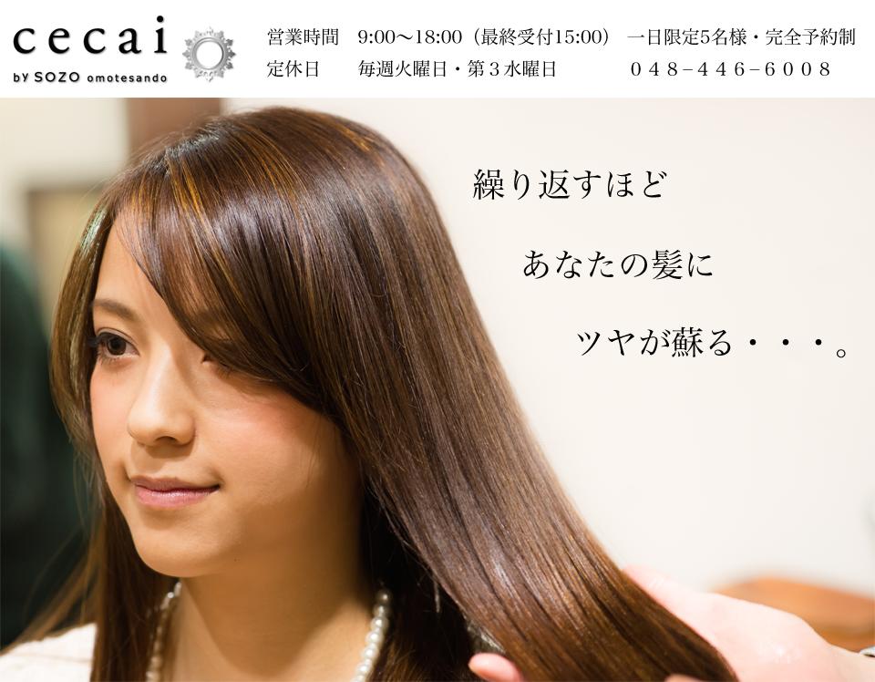 川口市・西川口の髪質改善美容室セカイ(cecai)